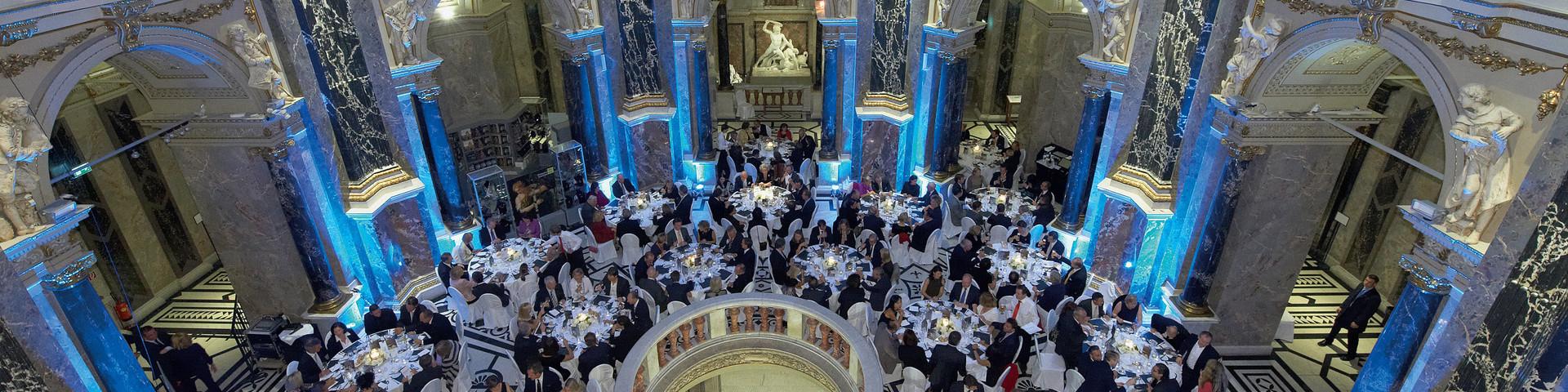 Kunsthistorisches Museum Wien - Bankett Kuppelhalle blau © KHM-Museumsverband, 2017