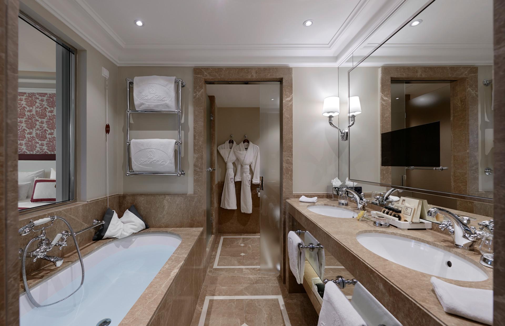 Hotel Sacher Salzburg   Badezimmer © Hotel Sacher Salzburg