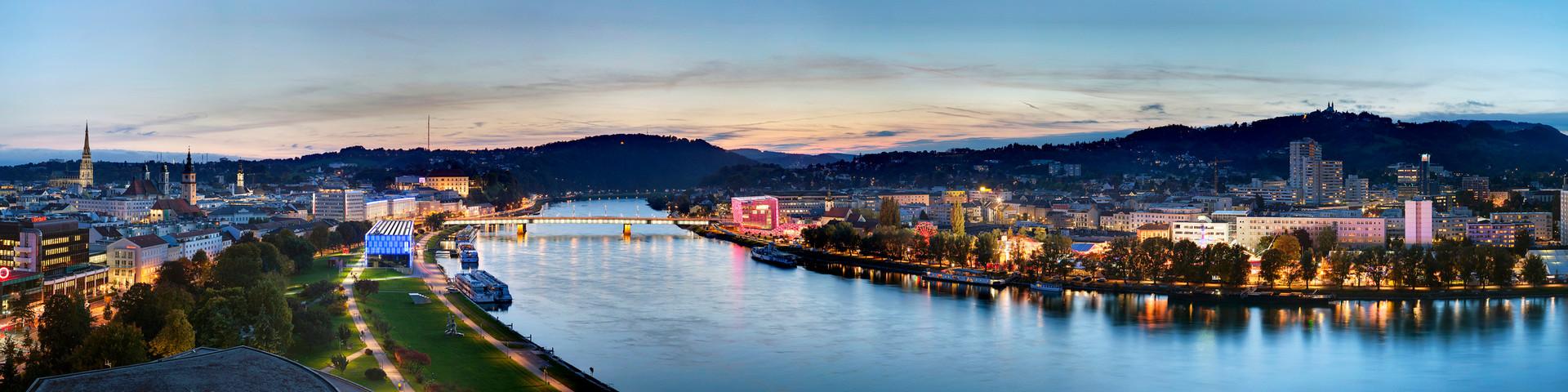 Linz Panorama © LinzTourismus - Johann Steininger
