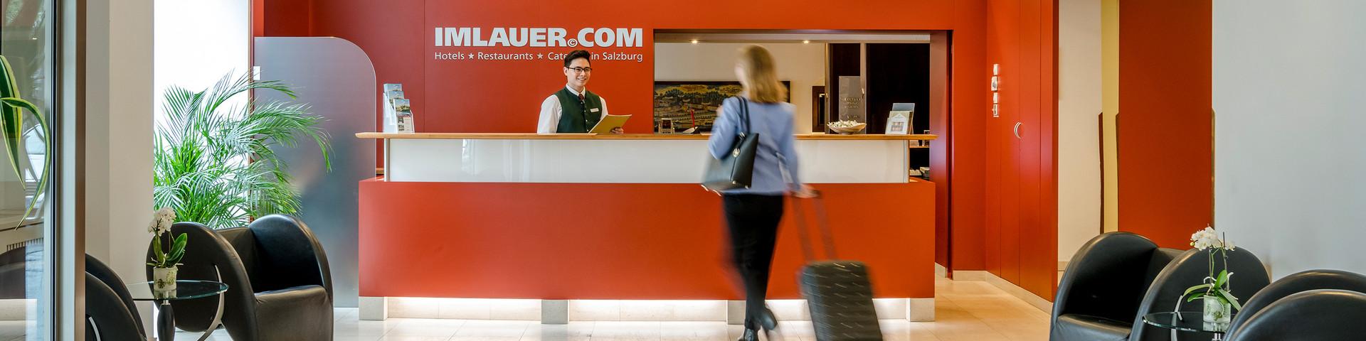 Hotel IMLAUER & Bräu Salzburg - Rezeption © IMLAUER Hotels & Restaurants
