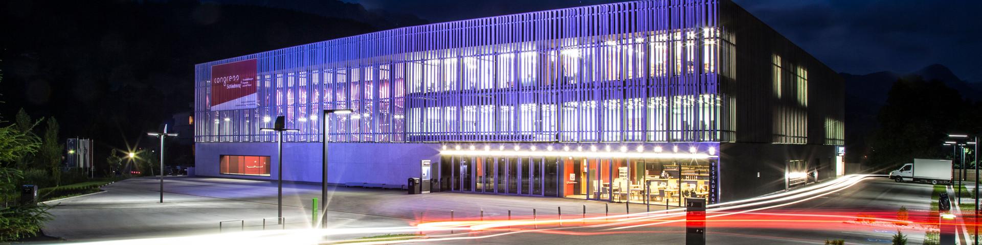 congress Schladming - Aussenansicht bei Nacht © congress Schladming | MOOM/Steiner