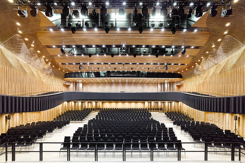 Montforthaus Feldkirch - Great hall © David Matthiessen